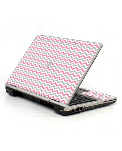 Pink Grey Chevron Waves HP EliteBook 2560P Laptop Skin