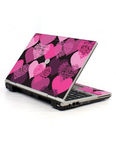 Pink Mosaic Hearts HP EliteBook 2560P Laptop Skin