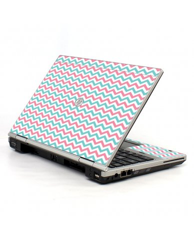 Pink Teal Chevron Waves HP EliteBook 2560P Laptop Skin