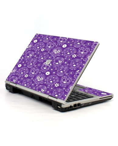Purple Sugar Skulls HP EliteBook 2560P Laptop Skin