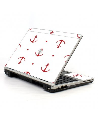 Red Anchors HP EliteBook 2560P Laptop Skin