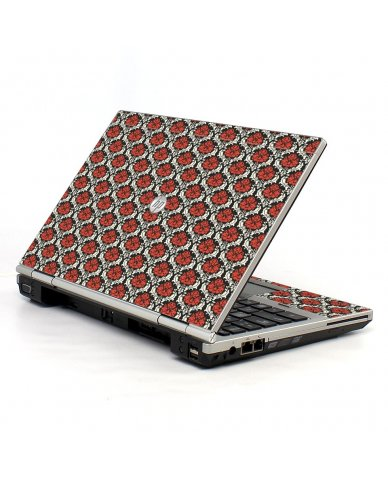 Red Black 5 HP EliteBook 2560P Laptop Skin