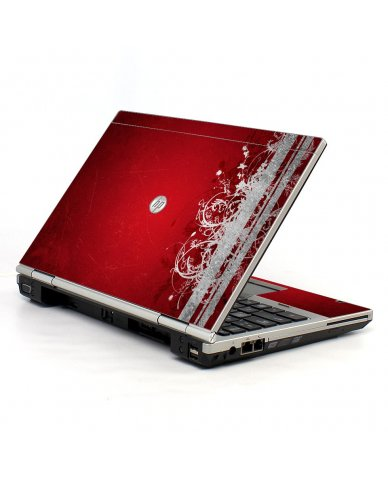 Red Grunge HP EliteBook 2560P Laptop Skin