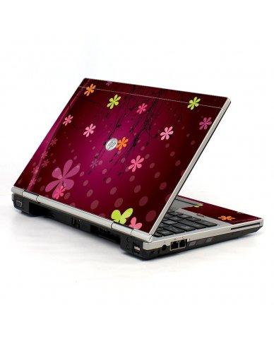 Retro Pink Flowers HP EliteBook 2560P Laptop Skin