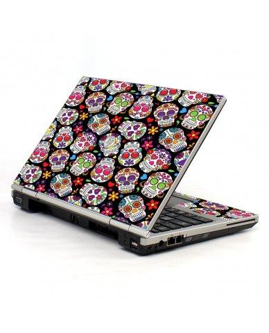 Sugar Skulls Black Flowers HP EliteBook 2560P Laptop Skin