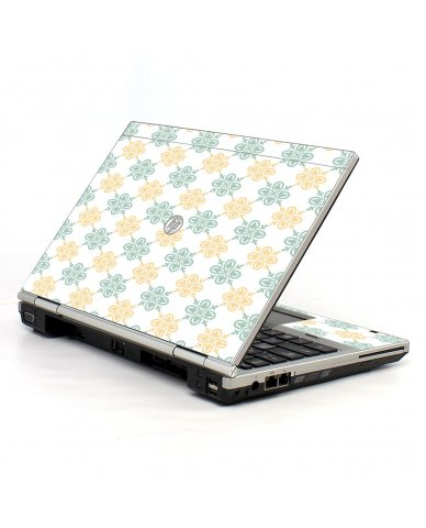 Yellow Green Flowers HP EliteBook 2560P Laptop Skin