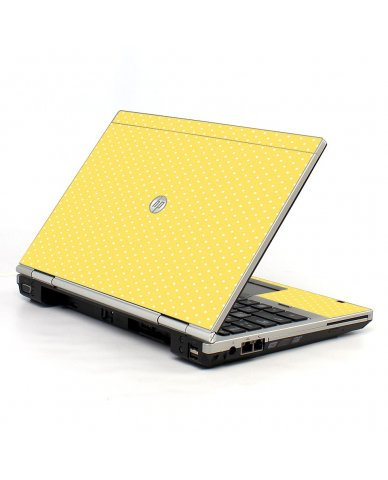 Yellow Polka Dot HP EliteBook 2560P Laptop Skin