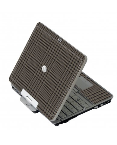 Beige Plaid HP EliteBook 2730P Laptop Skin