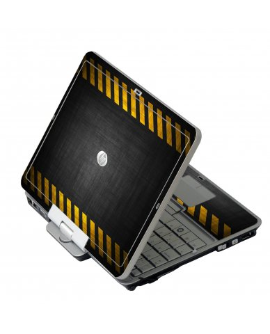 Black Caution Border HP EliteBook 2730P Laptop Skin