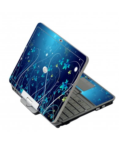 Blue Flowers HP EliteBook 2730P Laptop Skin