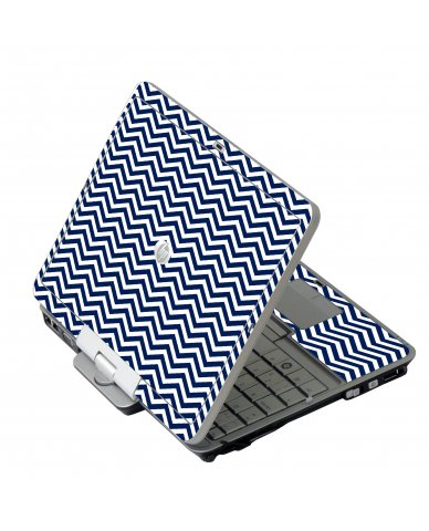 Blue Wavy Chevron HP EliteBook 2730P Laptop Skin