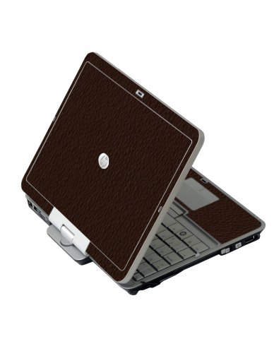 Brown Leather HP EliteBook 2730P Laptop Skin