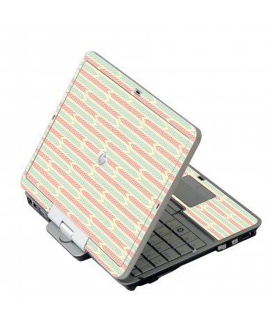 Crazy Circus Stripes HP EliteBook 2730P Laptop Skin