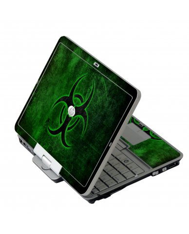 Green Biohazard HP EliteBook 2730P Laptop Skin