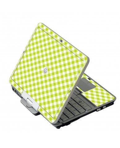 Green Checkered HP EliteBook 2730P Laptop Skin