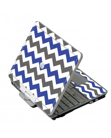 Grey Blue Chevron HP EliteBook 2730P Laptop Skin