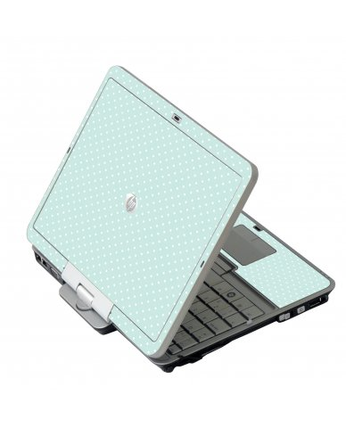 Light Blue Polka HP EliteBook 2730P Laptop Skin
