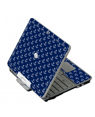 Navy White Anchors HP EliteBook 2730P Laptop Skin