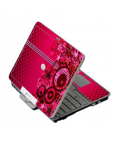 Pink Grunge Stars HP EliteBook 2730P Laptop Skin