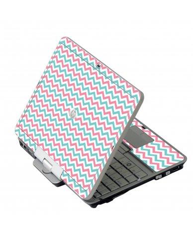 Pink Teal Chevron Waves HP EliteBook 2730P Laptop Skin