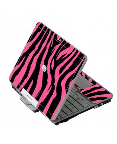 Pink Zebra HP EliteBook 2730P Laptop Skin