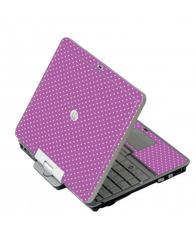 Purple Polka Dot HP EliteBook 2730P Laptop Skin