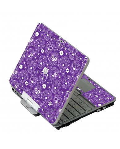 Purple Sugar Skulls HP EliteBook 2730P Laptop Skin