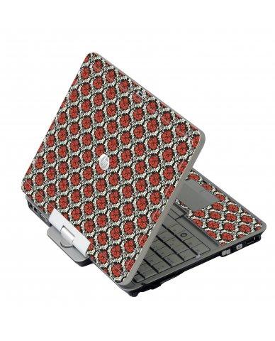 Red Black 5 HP EliteBook 2730P Laptop Skin