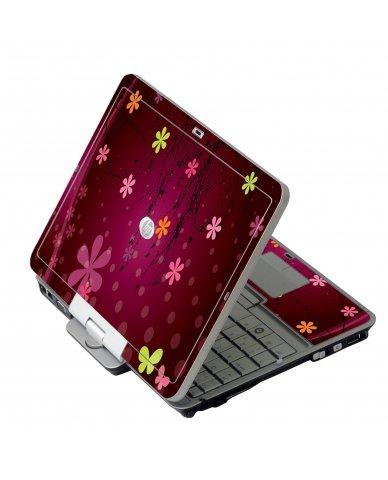 Retro Pink Flowers HP EliteBook 2730P Laptop Skin