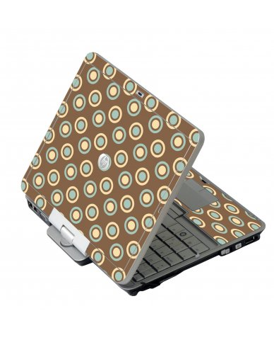 Retro Polka Dot HP EliteBook 2730P Laptop Skin