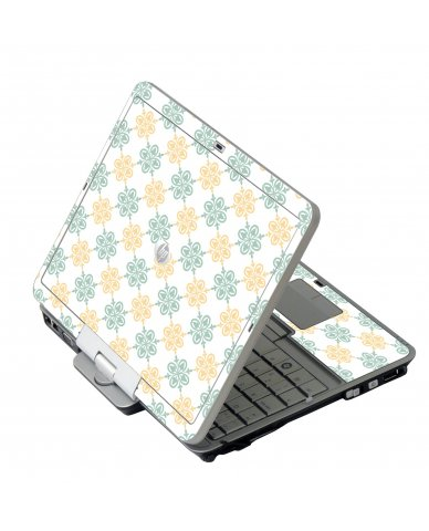Yellow Green Flowers HP EliteBook 2730P Laptop Skin