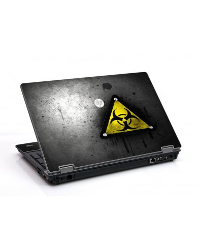 Black Caution HP ProBook 6455B Laptop Skin