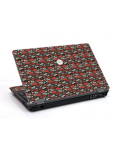 Black Red Roses HP ProBook 6455B Laptop Skin