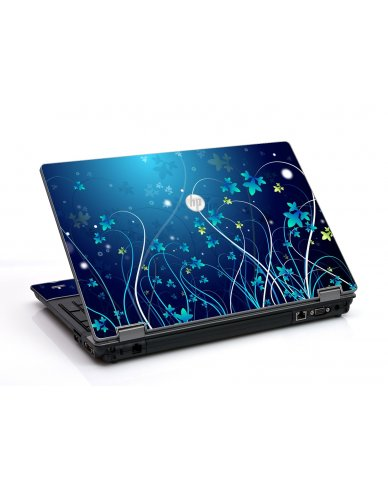 Blue Flowers HP ProBook 6455B Laptop Skin