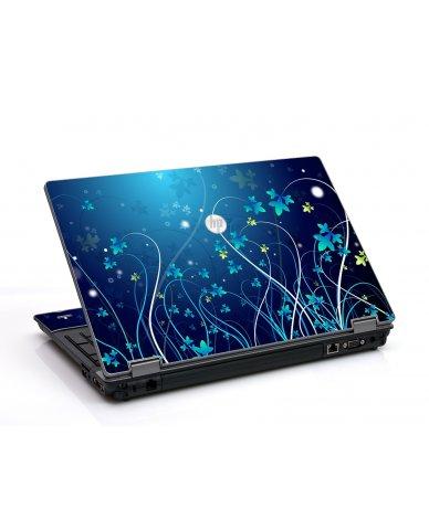 Blue Flowers HP ProBook 6455B Laptop Skin