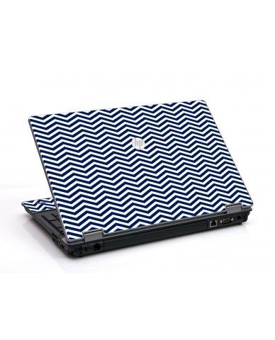 Blue Wavy Chevron HP ProBook 6455B Laptop Skin
