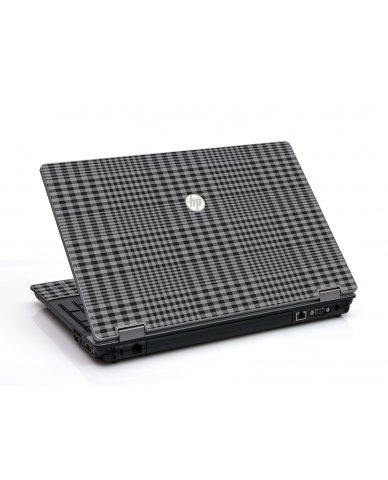 Darkest Grey Plaid HP ProBook 6455B Laptop Skin