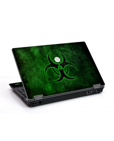 Green Biohazard HP ProBook 6455B Laptop Skin