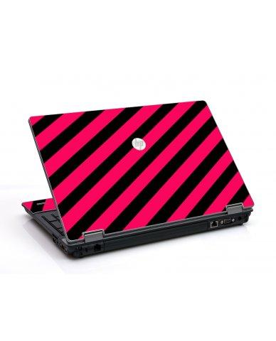Pink Black Stripes HP ProBook 6455B Laptop Skin