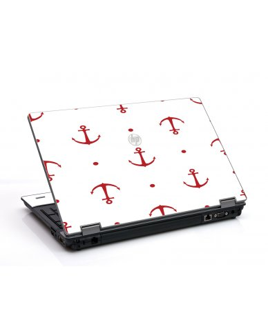 Red Anchors HP ProBook 6455B Laptop Skin