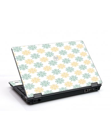 Yellow Green Flowers HP ProBook 6455B Laptop Skin
