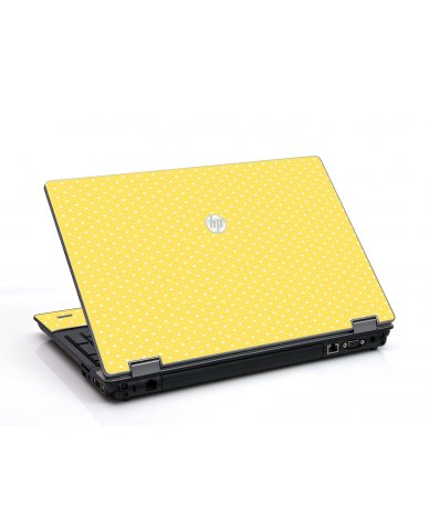 Yellow Polka Dot HP ProBook 6455B Laptop Skin