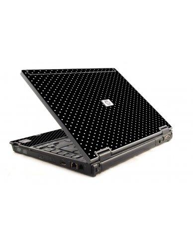 Black Polka Dots HP Compaq 6910P Laptop Skin