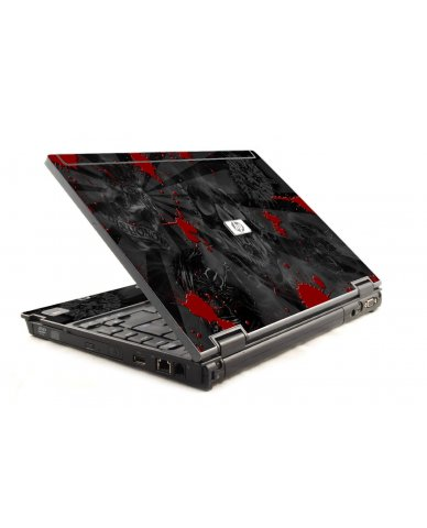 Black Skulls Red HP Compaq 6910P Laptop Skin