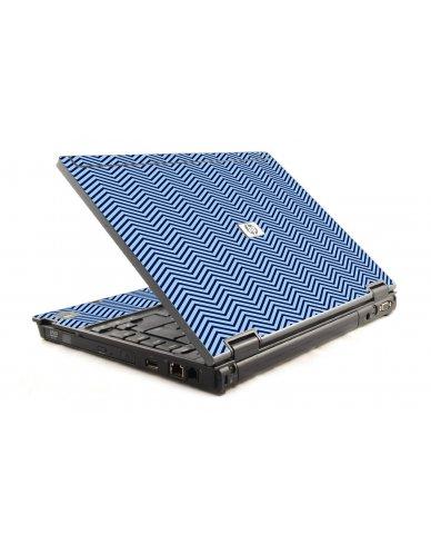 Blue On Blue Chevron HP Compaq 6910P Laptop Skin