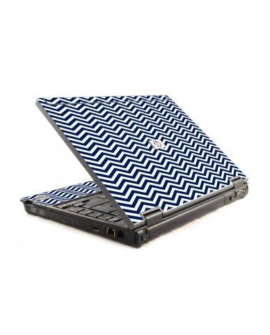Blue Wavy Chevron HP Compaq 6910P Laptop Skin