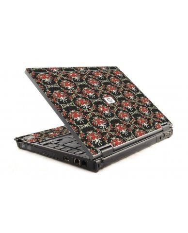 Flower Black Versailles HP Compaq 6910P Laptop Skin