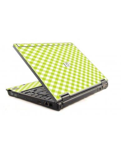 Green Checkered HP Compaq 6910P Laptop Skin