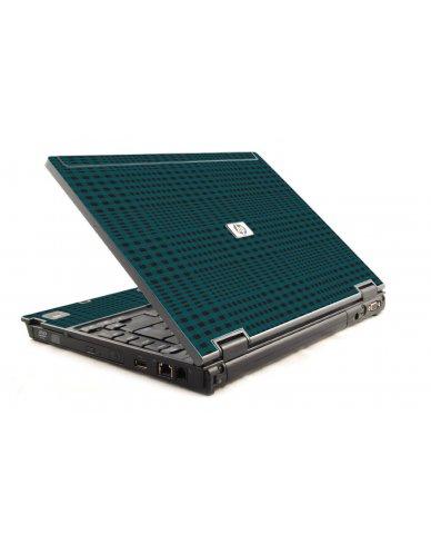 Green Flannel HP Compaq 6910P Laptop Skin