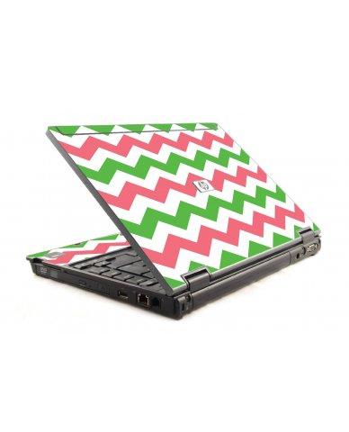 Green Pink Chevron HP Compaq 6910P Laptop Skin